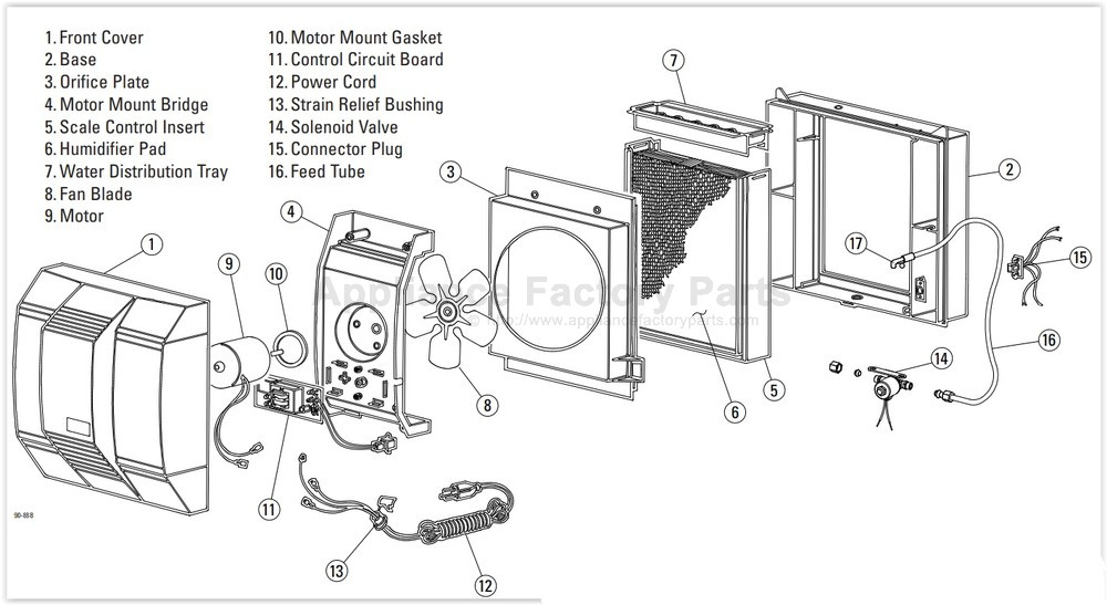 Carrier Humcclfp1318 Parts Humidifiers