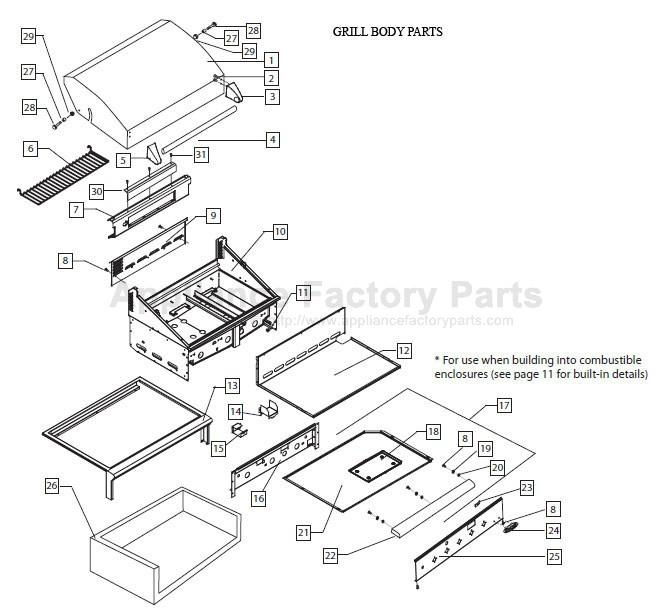 Dcs Bgb48 Bqarl Parts