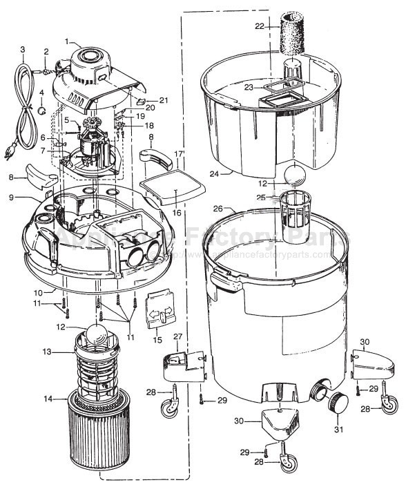 hoover s6631 parts