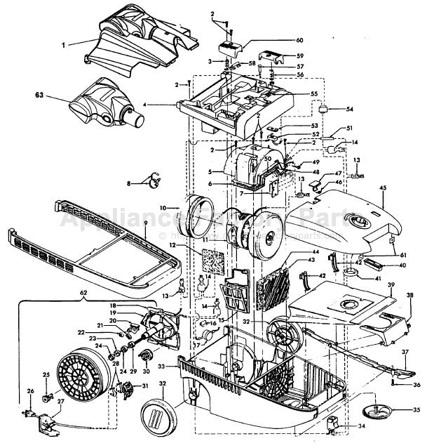hoover s3661 parts