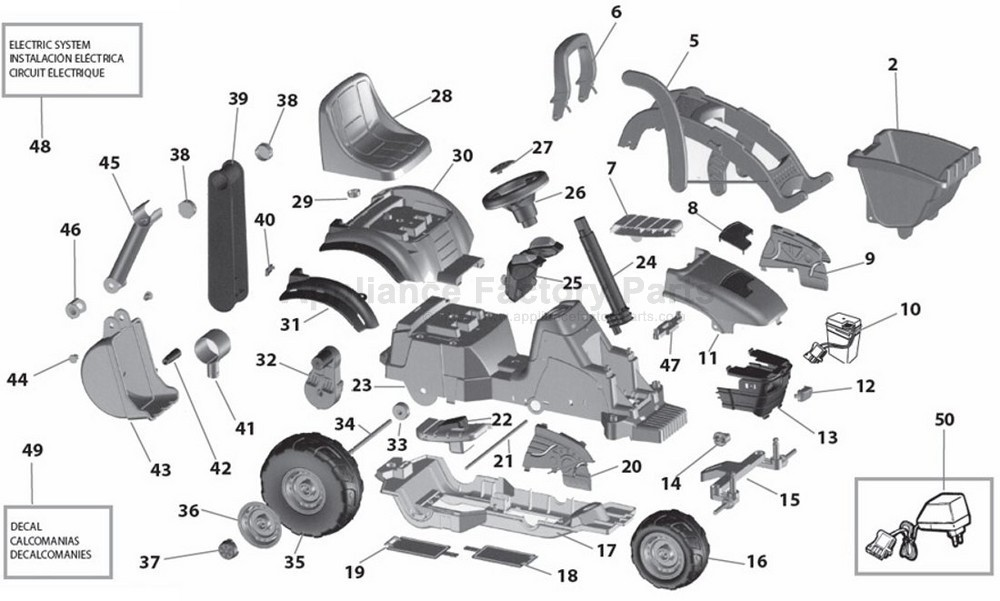 Peg Perego Iged1064 Parts For Power Wheels