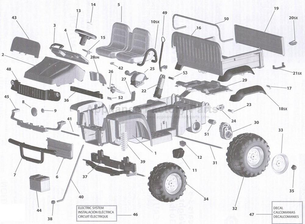 peg perego igod0055 parts for power wheels. Black Bedroom Furniture Sets. Home Design Ideas