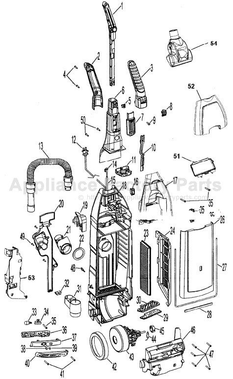 Hoover U64019rm Parts Vacuum Cleaners
