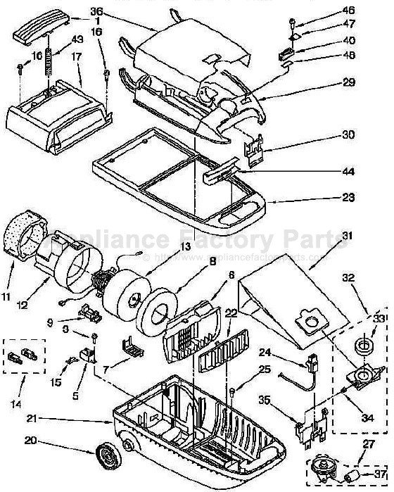 Kenmore 116.2441290 Parts | Vacuum Cleaners on
