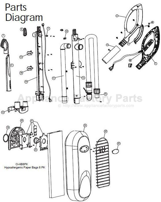 Oreck Halo100 Parts