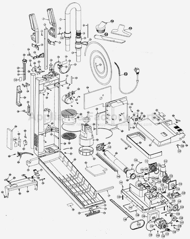 oreck upro14t parts vacuum cleaners Oreck XL Vacuum Switch Diagram model description mercial upright vacuum