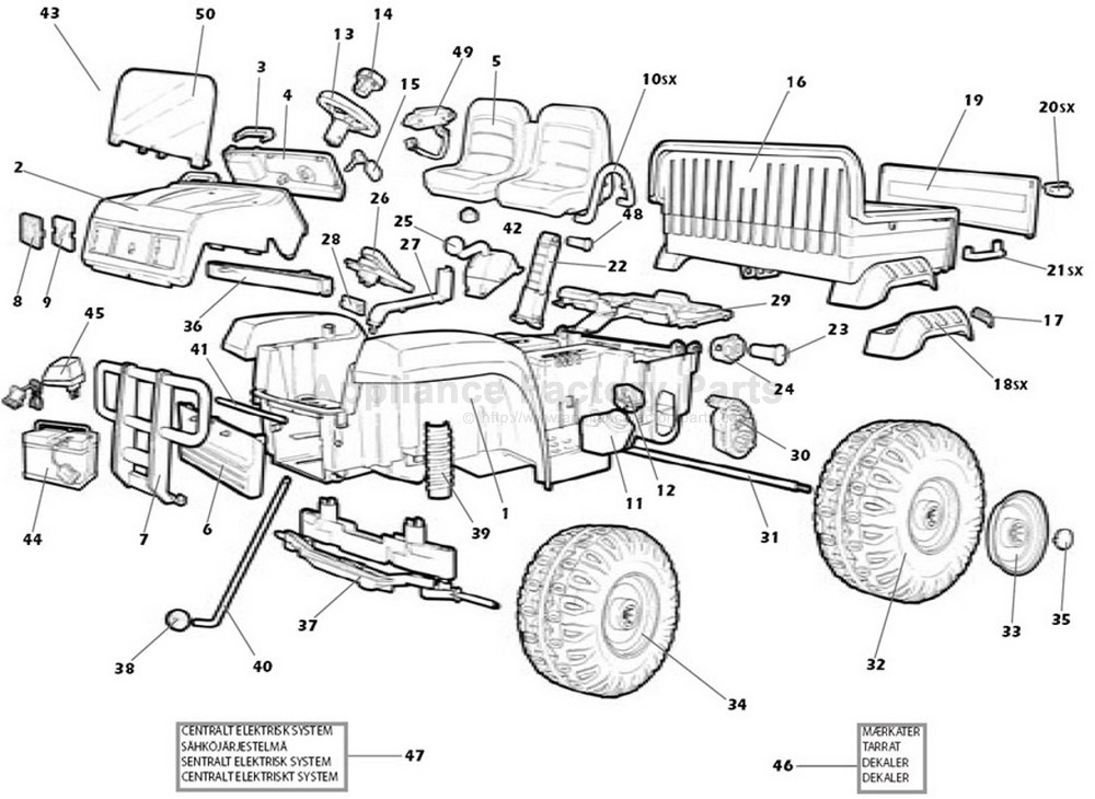 Peg Perego Mp270 Parts For Power Wheels