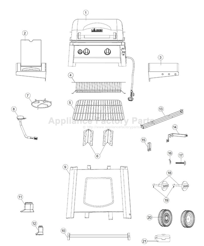 Brinkmann 810 4220 S Parts Bbqs And Gas Grills Burner Schematic Image