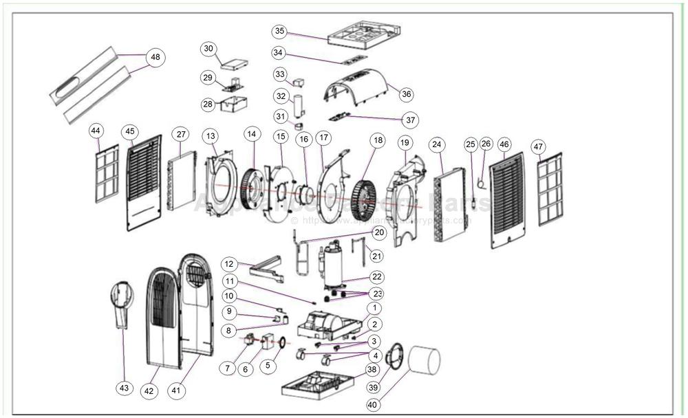 friedrich p10s parts