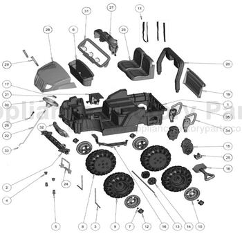 Power Wheels ARCTIC CAT WHEEL DRIVER L2170-2249