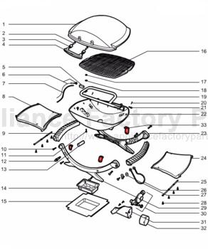 weber 396001 parts bbqs and gas grills rh appliancefactoryparts com weber q200 user manual Weber Q Grill