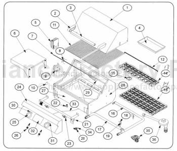 Dcs DCS24FS Parts   BBQs and Gas Grills