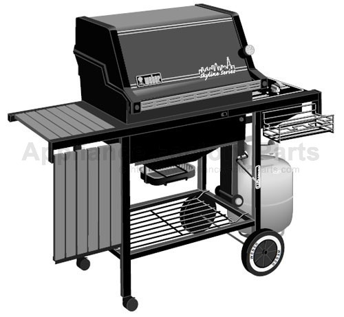 weber skyline 1200 lp parts bbqs and gas grills. Black Bedroom Furniture Sets. Home Design Ideas