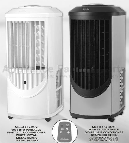 Sunbeam Ky25y Parts Air Conditioners